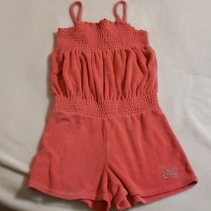 GAP Girls Pink Terry Cloth Short Romper 10